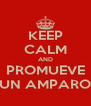 KEEP CALM AND PROMUEVE UN AMPARO - Personalised Poster A4 size