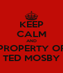 KEEP CALM AND PROPERTY OF TED MOSBY - Personalised Poster A4 size