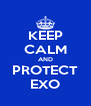 KEEP CALM AND PROTECT EXO - Personalised Poster A4 size