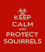 KEEP CALM AND PROTECT SQUIRRELS - Personalised Poster A4 size