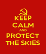 KEEP CALM AND PROTECT THE SKIES - Personalised Poster A4 size