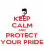 KEEP CALM AND PROTECT YOUR PRIDE - Personalised Poster A4 size