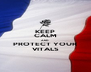 KEEP CALM AND PROTECT YOUR VITALS - Personalised Poster A4 size