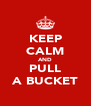 KEEP CALM AND PULL A BUCKET - Personalised Poster A4 size