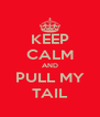 KEEP CALM AND PULL MY TAIL - Personalised Poster A4 size