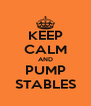 KEEP CALM AND PUMP STABLES - Personalised Poster A4 size