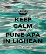 KEEP CALM AND PUNE APA IN LIGHEAN - Personalised Poster A4 size