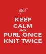 KEEP CALM AND PURL ONCE KNIT TWICE - Personalised Poster A4 size