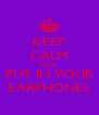 KEEP CALM AND PUT IN YOUR EARPHONES - Personalised Poster A4 size