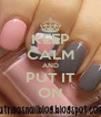 KEEP CALM AND PUT IT ON - Personalised Poster A4 size