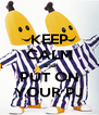 KEEP CALM and PUT ON YOUR PJ - Personalised Poster A4 size