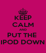 KEEP CALM AND PUT THE  IPOD DOWN - Personalised Poster A4 size