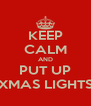 KEEP CALM AND PUT UP XMAS LIGHTS - Personalised Poster A4 size