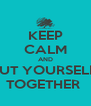 KEEP CALM AND PUT YOURSELF  TOGETHER  - Personalised Poster A4 size