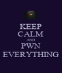 KEEP CALM AND PWN EVERYTHING - Personalised Poster A4 size