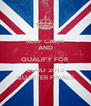 KEEP CALM AND QUALIFY FOR  EURO 2012 QUARTER FINALS - Personalised Poster A4 size