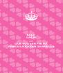KEEP CALM AND QUE VOU SER PAI DA PRINCESA KAREN GABRIELLE - Personalised Poster A4 size