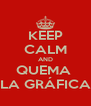 KEEP CALM AND QUEMA  LA GRÁFICA - Personalised Poster A4 size