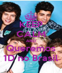 KEEP CALM AND Queremos 1D no Brasil - Personalised Poster A4 size