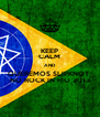 KEEP CALM AND QUEREMOS SLIPKNOT  NO ROCK IN RIO 2013 - Personalised Poster A4 size
