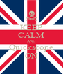 KEEP CALM AND Quickscope ON - Personalised Poster A4 size