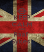 KEEP CALM AND Raaf  Sykes  - Personalised Poster A4 size