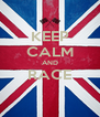 KEEP CALM AND RACE  - Personalised Poster A4 size
