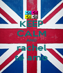 KEEP CALM AND rachel te amo - Personalised Poster A4 size