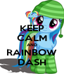 KEEP CALM AND RAINBOW DASH - Personalised Poster A4 size