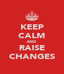 KEEP CALM AND RAISE CHANGES - Personalised Poster A4 size