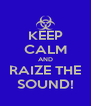 KEEP CALM AND RAIZE THE SOUND! - Personalised Poster A4 size