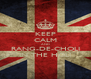 KEEP CALM AND RANG-DE-CHOLI IN THE HOLI - Personalised Poster A4 size