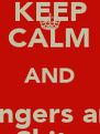 KEEP CALM AND Rangers are  Shite - Personalised Poster A4 size