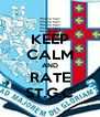 KEEP CALM AND RATE ST.G.C - Personalised Poster A4 size