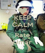 KEEP CALM AND Rate Umar - Personalised Poster A4 size