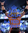 KEEP CALM AND RATED R  SUPERSTAR - Personalised Poster A4 size