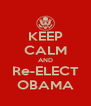 KEEP CALM AND Re-ELECT OBAMA - Personalised Poster A4 size