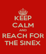 KEEP CALM AND REACH FOR THE SINEX - Personalised Poster A4 size