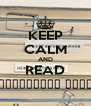 KEEP CALM AND READ НЕВИДИМИТЕ КРИЗИ - Personalised Poster A4 size