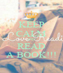 KEEP CALM AND READ A BOOK!!! - Personalised Poster A4 size