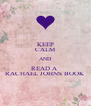 KEEP CALM AND READ A  RACHAEL JOHNS BOOK - Personalised Poster A4 size