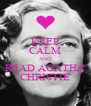 KEEP CALM AND READ AGATHA CHRISTIE - Personalised Poster A4 size