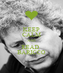 KEEP CALM AND READ  BARICCO - Personalised Poster A4 size