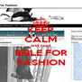 KEEP CALM and read BIBLE FOR FASHION - Personalised Poster A4 size