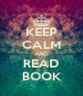 KEEP CALM AND READ BOOK - Personalised Poster A4 size