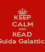 KEEP CALM AND READ Guida Galattica - Personalised Poster A4 size