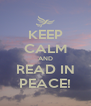KEEP CALM AND READ IN PEACE! - Personalised Poster A4 size