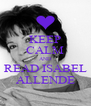 KEEP CALM AND READ ISABEL ALLENDE - Personalised Poster A4 size