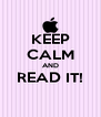 KEEP CALM AND READ IT!  - Personalised Poster A4 size