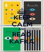 KEEP CALM AND READ KAFKA - Personalised Poster A4 size